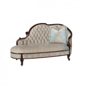 EMPRESS CHAISE 9MT FABRIC DIAMOND BUTTON
