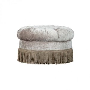 ROUND DIAMOND BUTTONED OTTOMAN 3MT FABRIC FRAME ONLY