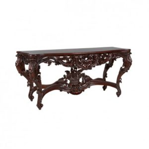 WILLIAM CARVED CONSOLE MAHOGANY