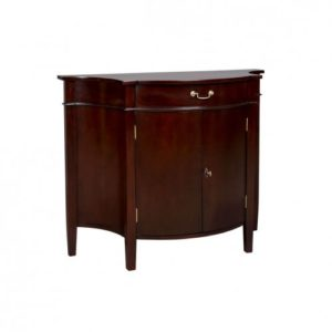 2 DOOR CHEST BOWED FRONT MAHOGANY