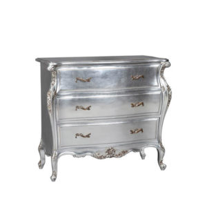 CASSANDRA CHEST FULLY SILVER LEAF