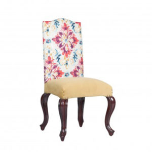 QUEEN ANNE FULLY UPHOLSTERED SIDE CHAIR