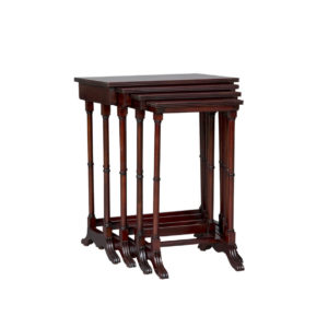 NEST OF TABLES MAHOGANY