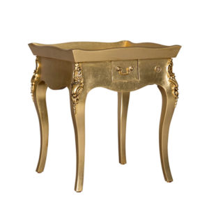 TRAY TOP LAMP TABLE GOLD