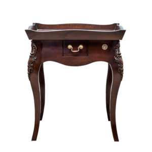 TRAY TOP LAMP TABLE MAHOGANY