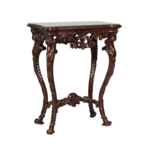 DECORATIVE URN STAND MAHOGANY