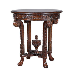 KUWAIT CIRCULAR LAMP TABLE MAHOGANY