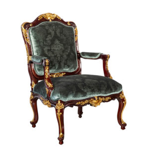 ROCOCO LOUNGE CHAIR PARTIAL GOLD