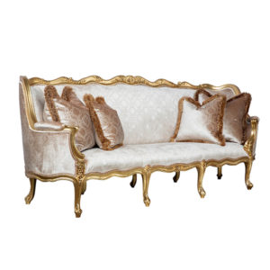 DIANA SOFA 3 SEATER GOLD