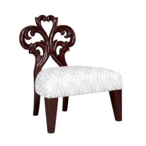 EMILY-ROSE OCCASIONAL CHAIR 1.2 MT FABRIC MAHOGANY