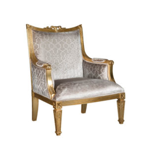 HAMILTON OCCASIONAL CHAIR GOLD & SILVER