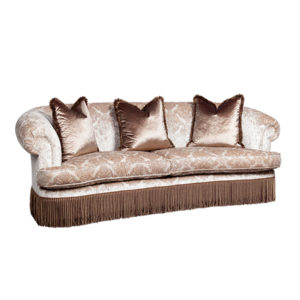 KIDNEY COUCH UPHOLSTERED IN KINGDOM VELVET 18 MTS