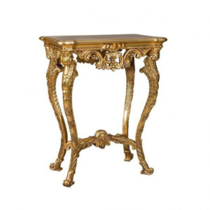 DECORATIVE URN STAND GOLD