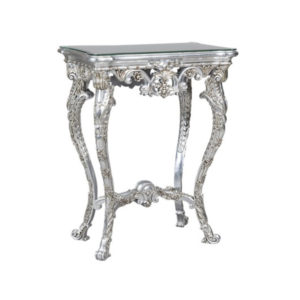 DECORATIVE URN STAND SILVER