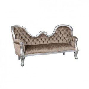 CHAISE LOUNGE DOUBLE HUMP 6MT FABRIC SILVER