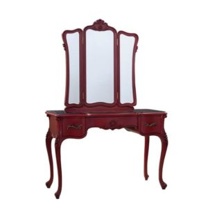 CASSANDRA DRESSING TABLE ANTIQUE RED