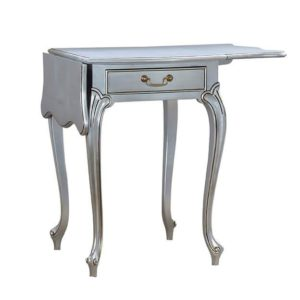 PEMBROKE LAMP TABLE SILVER LEAF