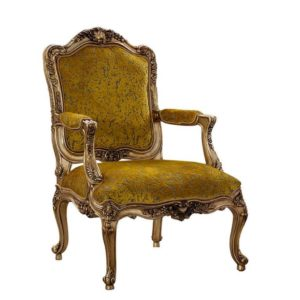 ROCOCO LOUNGE CHAIR ANTIQUE GOLD