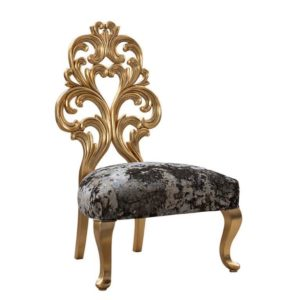 EMILY-ROSE LOUNGE CHAIR FULLY GOLD