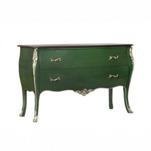 Louis Large Chest In Antique Blue, Racing Green Or Mahogany