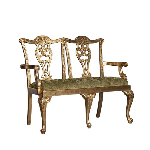 Chippendale 2 Seater Mahogany