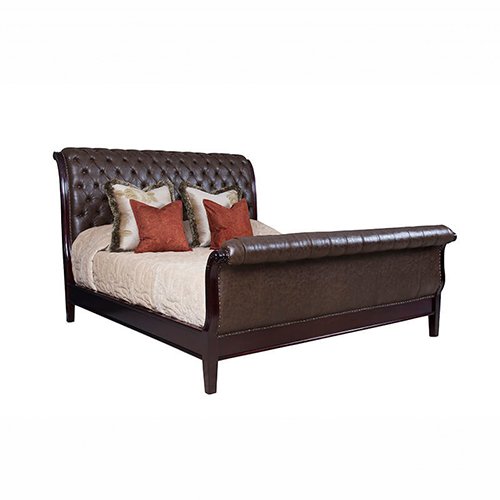 Sleigh Bed King Size Xl Mahogany