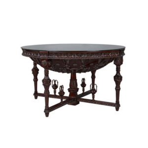 DOME ENTRANCE HALL 1470 DIAMETER GLASS TOP MAHOGANY