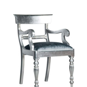 BAR BACK FULLY SILVER LEAF CHAIR EXCL 0.8 MT PER CHAIR