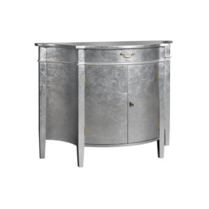 2 DOOR CHEST BOWED FRONT SILVER