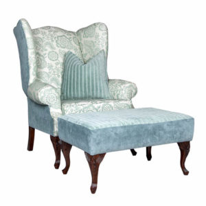 David Llewelyn Wingback Ottoman Frame Only 3mts