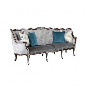 Diana Sofa 3 Seater Silver