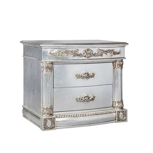 Rococo Pedestal Fully Silver