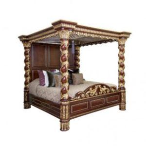 Louis Canopy Bed Barley Twist