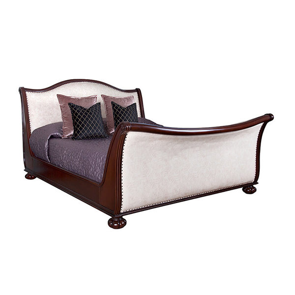 Safari Bed Extra Length Mahogany
