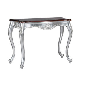 Serpentine Hall Table Silver