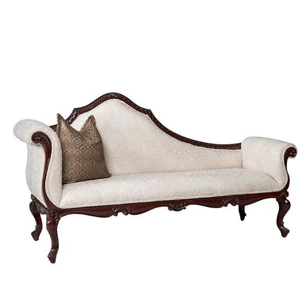 Safari Chaise Lounge 6mt Fabric Mahogany