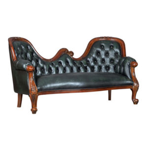 Chaise Lounge Double Hump 6mt Fabric Mahogany