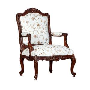 Rococo Lounge Chair Mahogany
