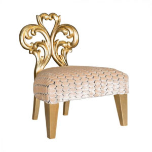 EMILY-ROSE OCCASIONAL CHAIR 1.2 MT FABRIC GOLD