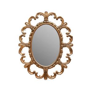 Fleur De Lis Mirror Gold