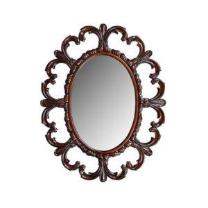 Fleur De Lis Mirror Mahogany