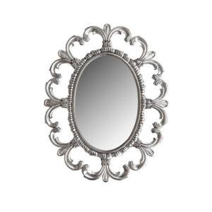 Fleur De Lis Mirror Silver