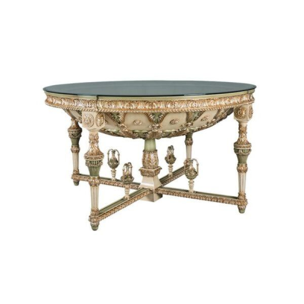 Dome Entrance Hall 1470 Diameter Glass Top Gold