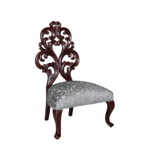 EMILY-ROSE OCCASIONAL CHAIR 1.2 MT FABRIC SILVER