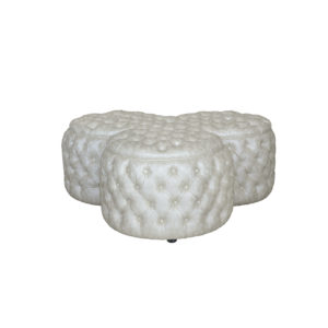 LARGE CLOVER OTTOMAN 6MT FRAME ONLY DIAMOND BUTTONED