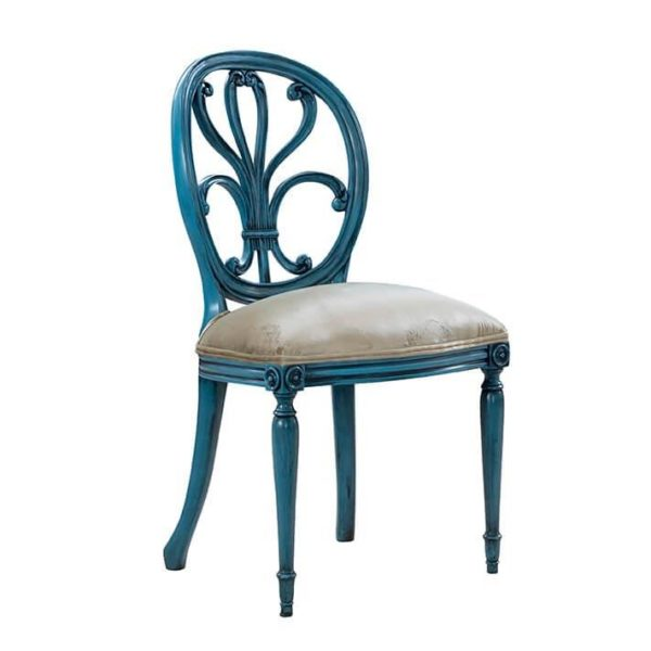 HEPPLEWHITE SIDE CHAIR CORAL BLUE