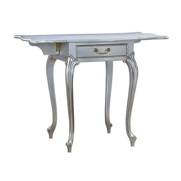 PEMBROKE LAMP TABLE SILVER LEAF