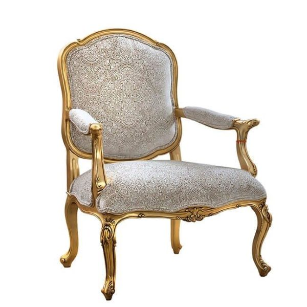 CHANELLE LOUNGE CHAIR ANTIQUE GOLD