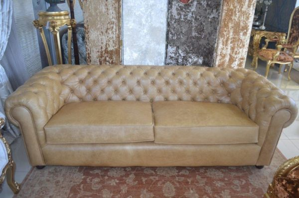Chesterfield Tan Leather